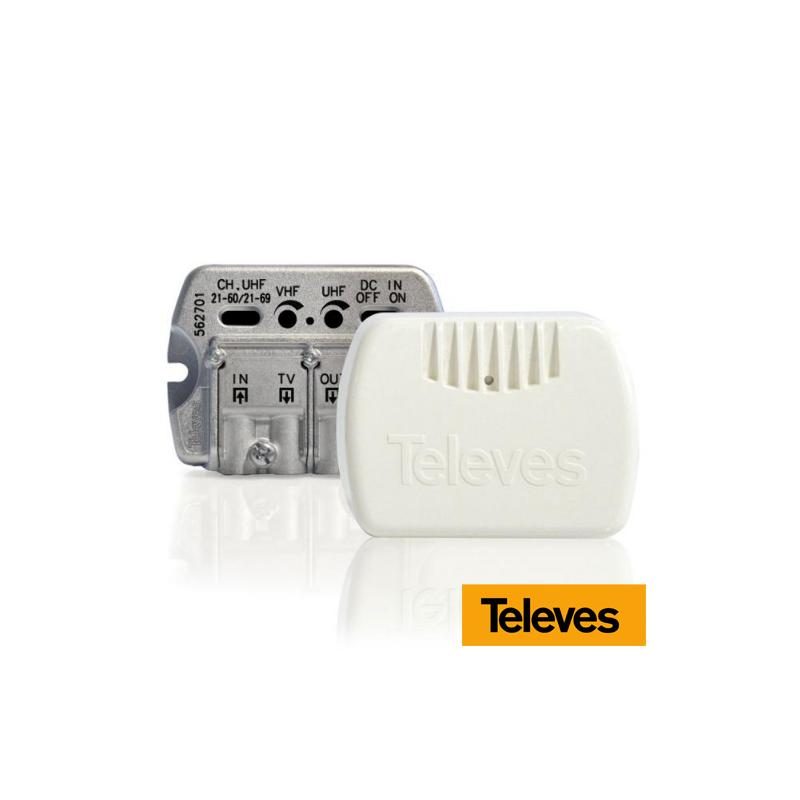 Amplificador interior de vivienda 1e/(2s+TV) VHF/UHF - Serie NanoKom