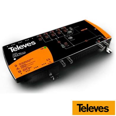 Central amplificadora DTKom MATV 3E/1S F FM-BIII-UHF