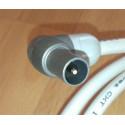 Cable coaxial macho-F rápido 3m