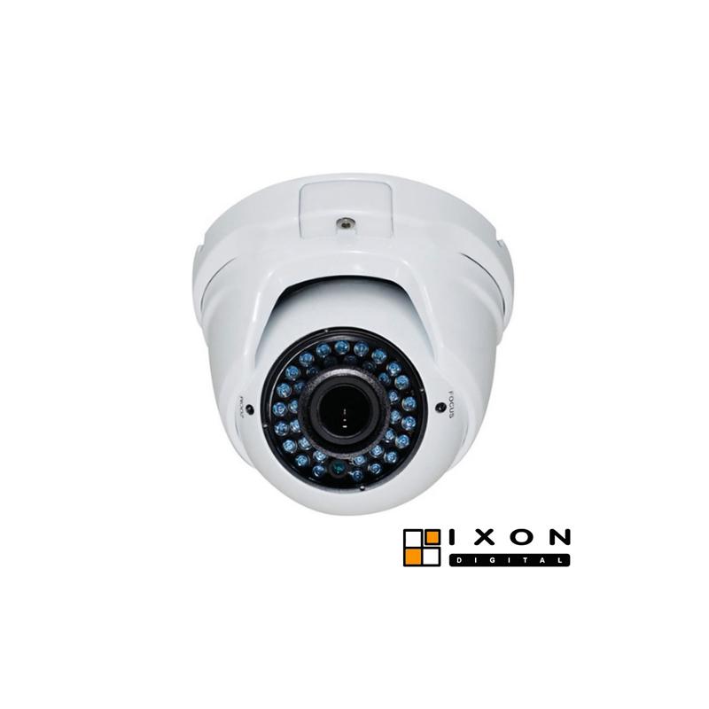 Mini-domo exterior híbrido HDCVI/CVBS HD 720p, óptica 2,8-12mm, IR 40 m