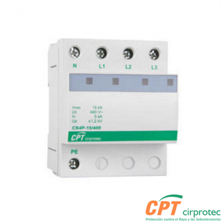 Dispositivo protector de sobretensiones transitorias CS4P-40/400