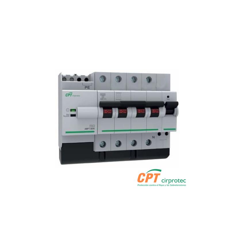 Protector combinado DPS+POP contra sobretensiones transitorias y permanentes + IGA 40A