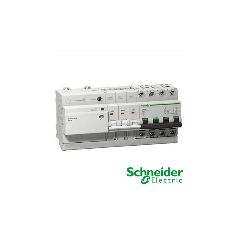 Protector Combinado Sobretensiones Permanentes y Transitorias SPU 3P+N 40A