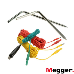 Juego de cables y picas para medición de tierras para 3 terminales