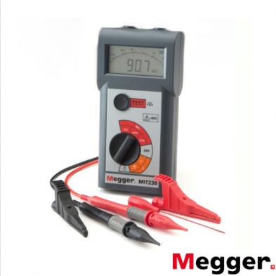 Medidor de Aislamiento y Continuidad 250/500/1000 V MIT230-EN