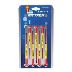 Juegos destornilladores WITTRON VDE blister plástico