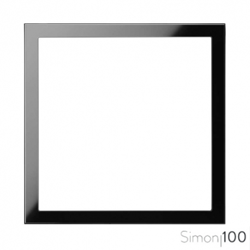 Marco de 1 Elemento Negro Simon 100