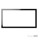 Marco 2 Elementos Negro Simon 100