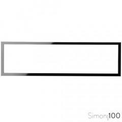 Marco 4 Elementos Negro Simon 100