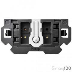 Conmutador pulsante con sistema de embornamiento 1 click Simon 100
