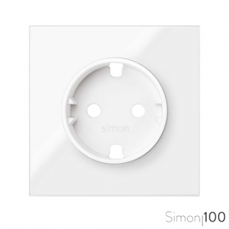 Tapa para la base de enchufe Schuko Blanco Simon 100