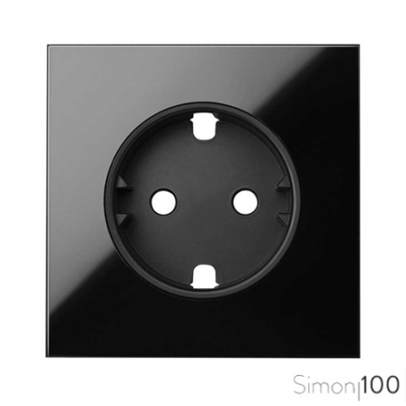 Tapa para la base de enchufe Schuko Negro Simon 100