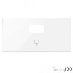 Tapa para 1 Conector USB Blanco Simon 100