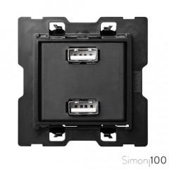 Cargador 2 USB 2.0 5 V/DC Tipo A Hembra Simon 100