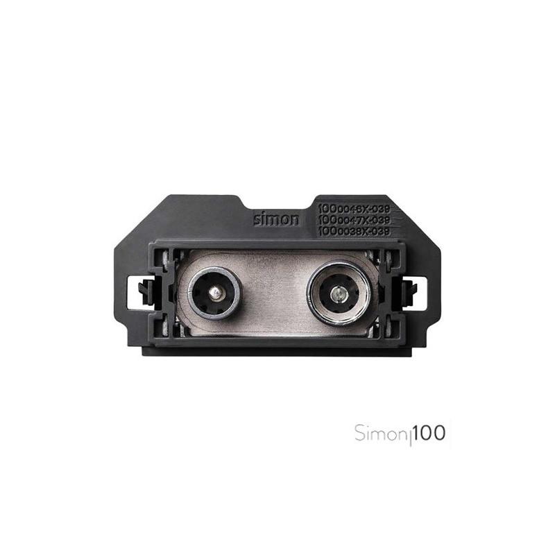 Toma de Señal Modular R-TV+SAT Única Simon 100