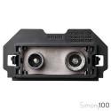 Toma de Señal Modular R-TV+SAT Intermedia Simon 100
