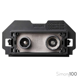 Toma de Señal Modular R-TV+SAT Final Simon 100