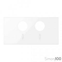 Tapa para tomas inductivas de R-TV+SAT Blanco Simon 100