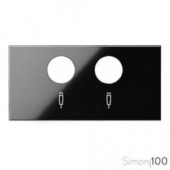 Tapa para tomas inductivas de R-TV+SAT Negro Simon 100