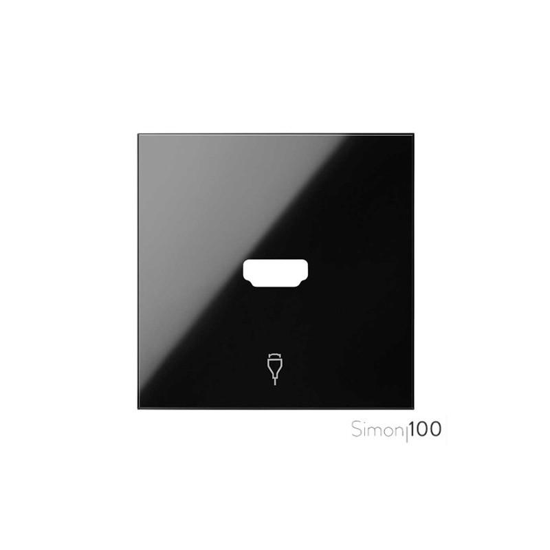 Tapa Conector HDMI Negro Simon 100