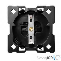 Base de Enchufe Schuko IO 16 A 230 V con Sistema de embornamiento a tornillo Simon 100
