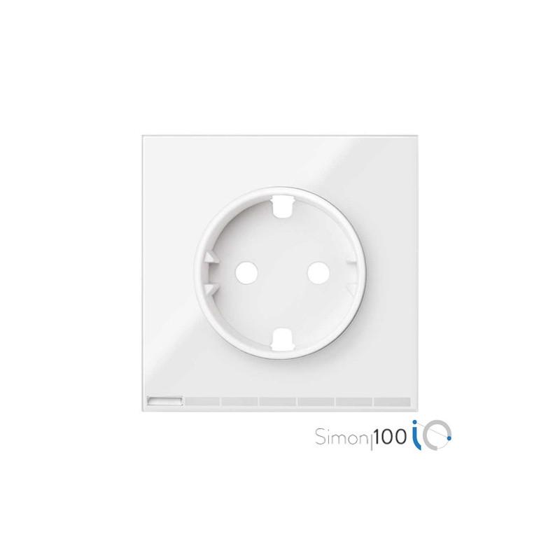 Tapa IO para la Base de Enchufe Schuko Blanco Simon 100