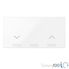 Tecla IO para Interruptor de Persianas Blanco Simon 100