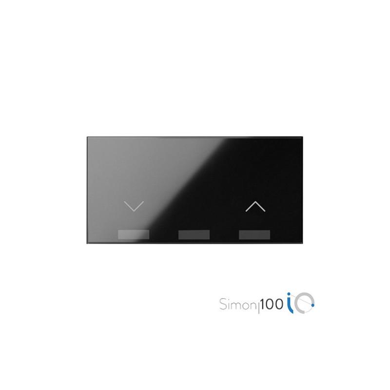 Tecla IO para Interruptor de Persianas Negro Simon 100