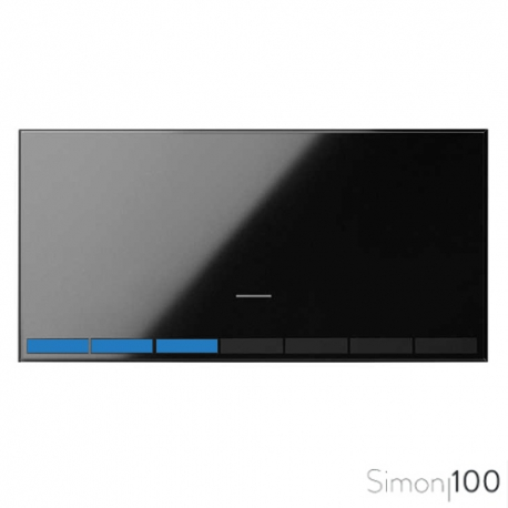 Tecla para Interruptor Regulable Negro Simon 100