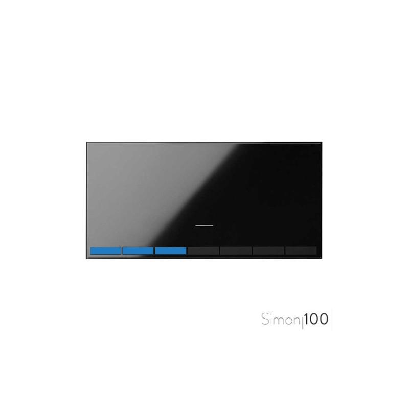 Tecla para Interruptor Regulable Negro Simon 100