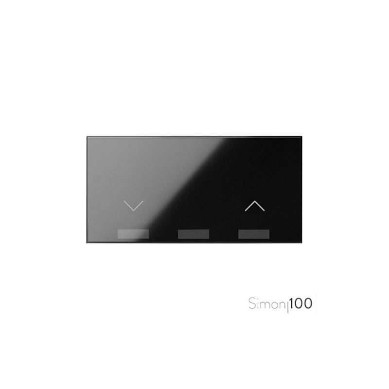 Tecla para Interruptor de Persianas Negro Simon 100