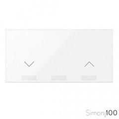 Tecla para Interruptor de Persianas Blanco Simon 100