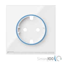 Tapa HUB IO para la base de enchufe schuko Blanco Simon 100