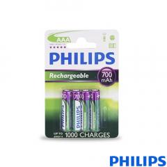 Pila Recargable Philips R03 / AAANi-MH700mAh Bliste4