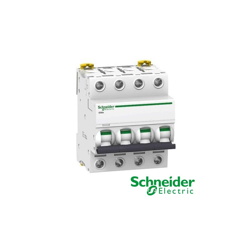 Interruptor automático magnetotérmico trifásico iC60N 4P 20A Curva C A9F79420