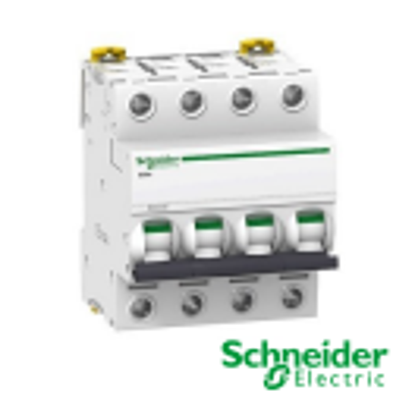 Interruptor automático magnetotérmico trifásico iC60N 4P 63A Curva C A9F79463