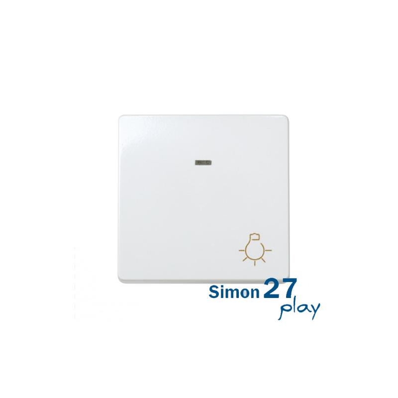 Pulsador con grabado luz luminoso incorporado Simon 27 Play