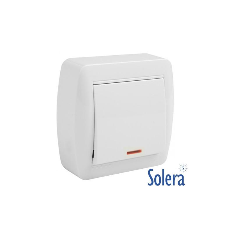 Conmutador Unipolar con indicador Luminoso Serie Mural Solera MUR02ILU