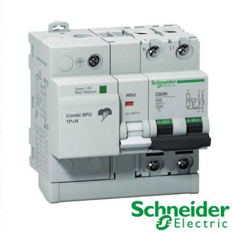 Protección combinada contra sobretensiones Combi SPU 1P+N 32 A Schneider Electric
