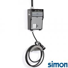 Caja IP44 Básica 1 Toma Modo 3 Tipo 2 Monofasico Trifasico 32A 22kW con Cable 4m Liso
