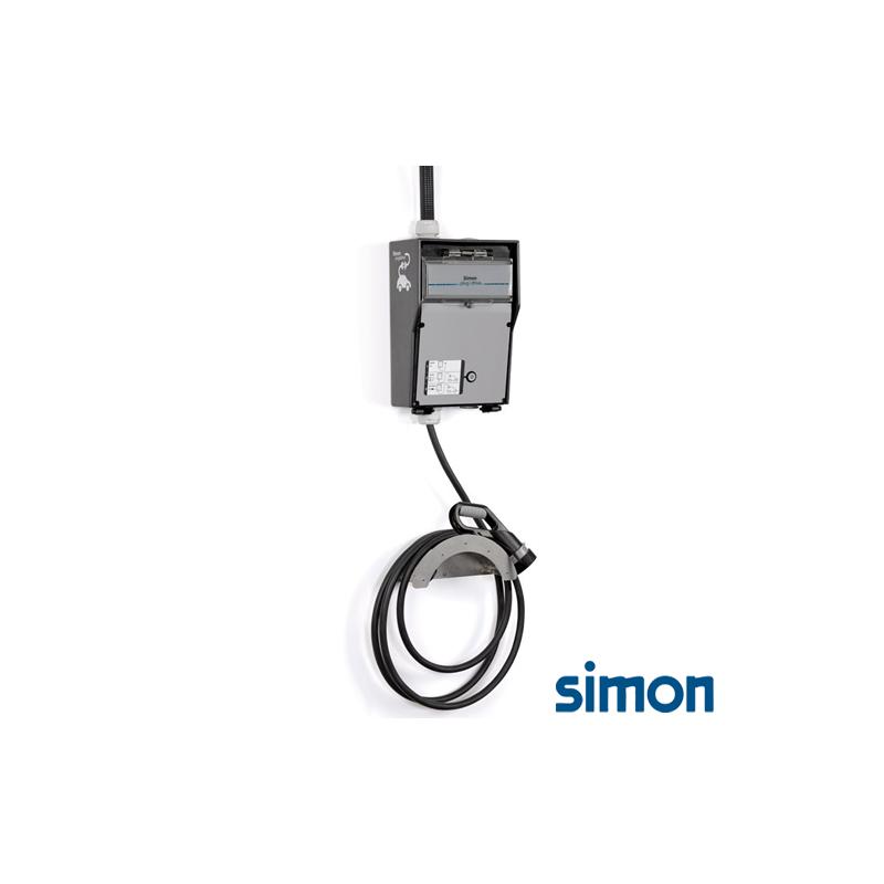 Caja IP44 Básica 1 toma modo 3 tipo 1 Monofasico Trifasico 32A 22kW con cable 4m Liso