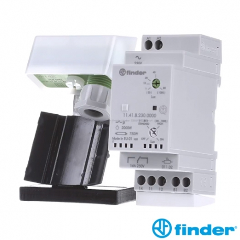 Interruptor Crepuscular 1 Conmutado 16 A Finder 11.41