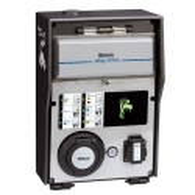 Caja IP54 Autónoma Tomas 1 Schuko 16A 3,6 kW Modo 3 Tipo 2 Mono Tri 32 A 22 kW RFID Mifare