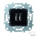 Toma Cargador USB Doble 1.5A 5V Niessen Sky 8185