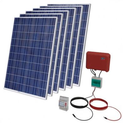 Kit Solar Autoconsumo Fotovoltaico 1500 WP + Instalación + Legalización + Registro + Armario Protecciones