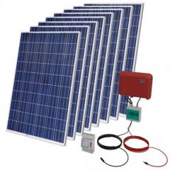 Kit Solar Autoconsumo Fotovoltaico 2000 WP + Instalación + Legalización + Registro + Armario Protecciones
