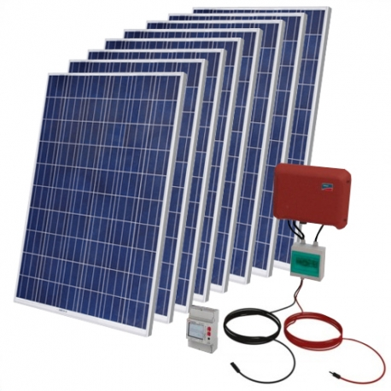 Kit Solar Autoconsumo Fotovoltaico 2000 WP