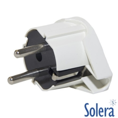 Clavija Macho Acodada 2 Polos + Tierra Solera 6566