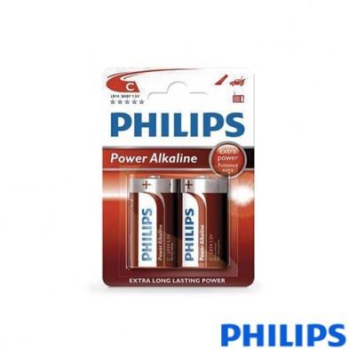 Pila Alkalina Philips LR14 (C) Blister 2