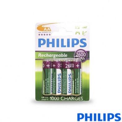Pila Recargable PhilipsR6/AA Ni-MH2600mAh Blister4
